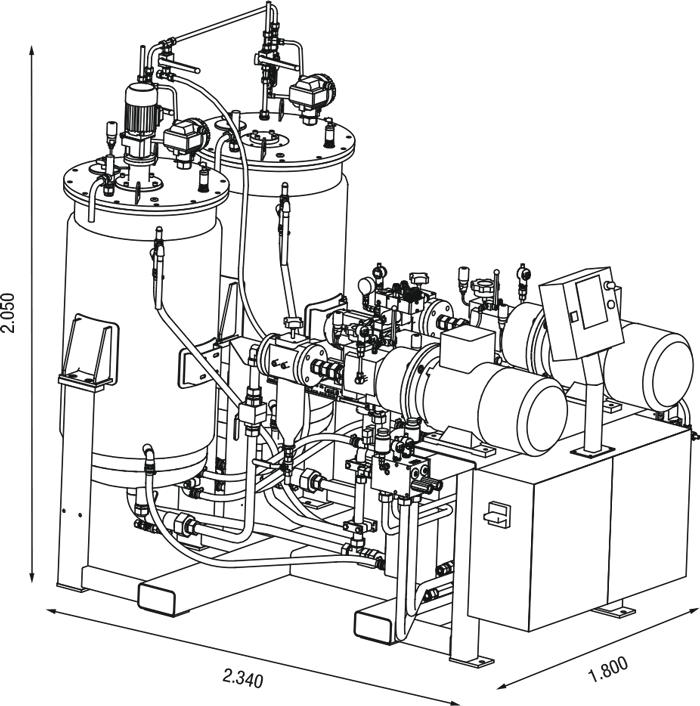 Máquina dosificadora compacta de alta presión para aplicaciones estándar